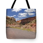Burr Trail Road Through Long Canyon Tote Bag