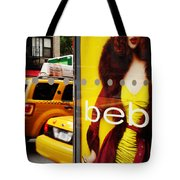 Bus Poster With Taxis - New York Tote Bag