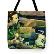 Bus Stop Dining Tote Bag