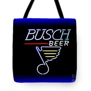 Busch And The Blues Edited Tote Bag
