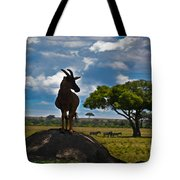 Bushbuck Guard Of The Mound   Tote Bag