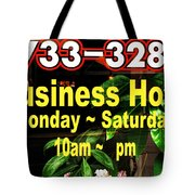 Business Hour Tote Bag