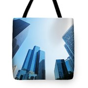 Business Skyscrapers Tote Bag by Michal Bednarek