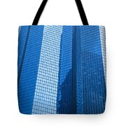 Business Skyscrapers Modern Architecture In Blue Tint Tote Bag by Michal Bednarek