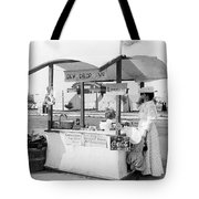Business Venture Of 7-year Old - Helen Rohne At Huntington Beach Tent City Tote Bag