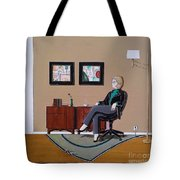 Businesswoman Sitting In Chair Tote Bag