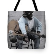 Busker With Style Tote Bag