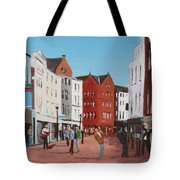 Busking On Grafton Street Tote Bag