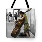Busking Parisian Cellist Tote Bag