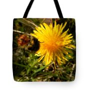 Bussy Bee And Dandelion Tote Bag