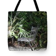Bust In A Garden With Staghorn Fern Tote Bag