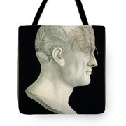Bust Of Johan Spurzsheim Tote Bag