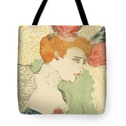 Bust Of Mlle. Marcelle Lender Tote Bag