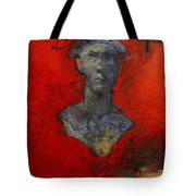 Bust Ted - With Sawdust And Tinsel  Tote Bag by Cliff Spohn