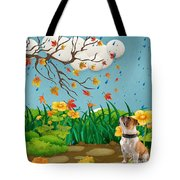 Buster And The Tree Tote Bag