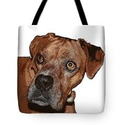 Buster Brown The Boxer Tote Bag by Sandra Clark