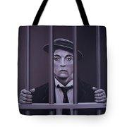 Buster Keaton Painting Tote Bag