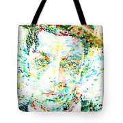 Buster Keaton - Watercolor Portrait Tote Bag