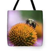Busy Bee On Cone Flower Tote Bag