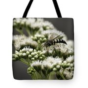 Busy Bee On White Tote Bag