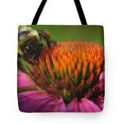 Busy Bumble Bee Tote Bag by Luke Moore