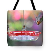 Busy Day At The Feeder Tote Bag