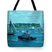 Busy Halifax Harbor During The Parade Of Sails Tote Bag