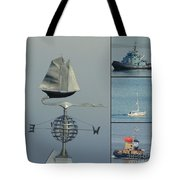 Busy Halifax Harbor Tote Bag