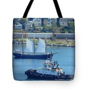 Busy Harbor Tote Bag