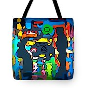 Busy Streets Downtown Tote Bag