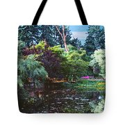 Butchart Gardens Is A Group Of Floral Display Brentwood Bay Tote Bag