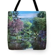 Butchart Gardens Is A Group Of Floral Display Gardens British Columbia Canada 3 Tote Bag