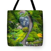 Butchart Gardens Stairs Tote Bag