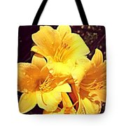 Butter Yellow Lilly Cluster Tote Bag