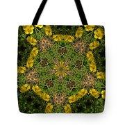 Buttercup Kaleidoscope Tote Bag