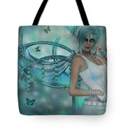 Butterflies And Beads Tote Bag