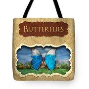 Butterflies Button Tote Bag