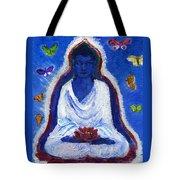 Butterflies Dream Of Buddha Tote Bag