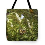 Butterflies In Golden Garden Tote Bag