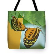 Butterflies Mating Out Of Bounds Tote Bag
