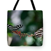 Butterflies On A Wire C Tote Bag