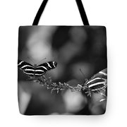 Butterflies On A Wire Tote Bag