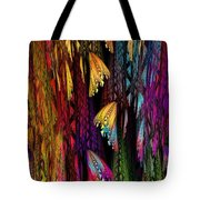 Butterflies On The Curtain Tote Bag