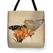 Butterflies Snd Flowers Tote Bag