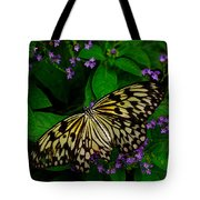 Butterfly - Yellow Green Purple Tote Bag