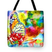 Butterfly Abstracted Tote Bag