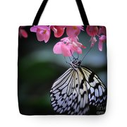 Butterfly And Blossoms Tote Bag