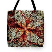 Butterfly And Bubbles Tote Bag by Anastasiya Malakhova