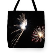 Butterfly And Flower Fireworks Tote Bag