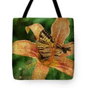Butterfly And Lily Tote Bag